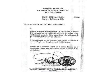 Prohíben a funcionarios de la PN el uso de teléfonos celulares