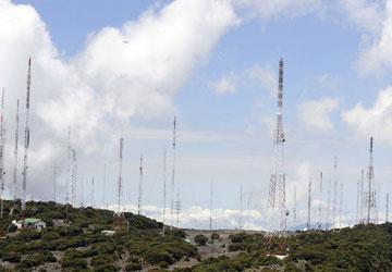 Situación de torres en Volcán Irazú, por grietas, afecta ruta a TV digital